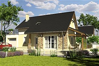 Projekt domu Ogi z garażem 1-st. [A]