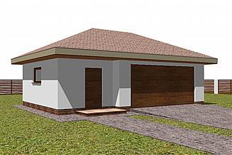 Projekt garażu Garaż G15