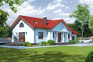 Projekt domu Chmielów z garażem