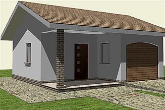 Projekt garażu Garaż G 3.12a