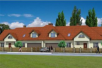 Projekt domu Bliźniak 1