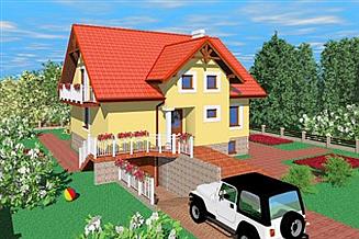 Projekt domu Fjk