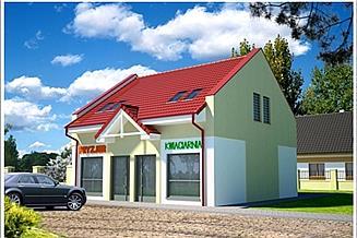 Projekt sklepu Sklep, Budynek Handlowy U51