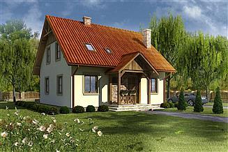 Projekt domu Domek Zimowy (023SK)