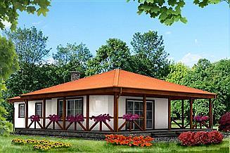 Projekt domu letniskowego DLM-1