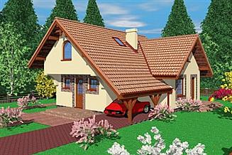 Projekt domu Ryc
