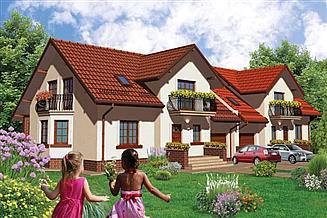 Projekt domu APS 194 dwulokalowy