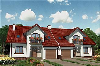 Projekt domu APS 185 dwulokalowy