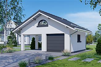 Projekt garażu APG 14