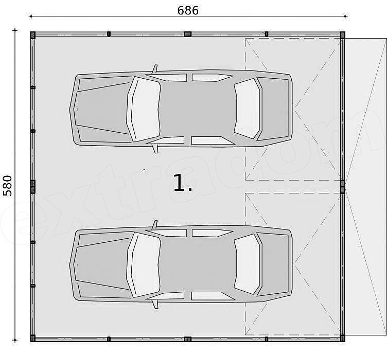 Projekt Garażu Gb32 Garaż Blaszany Dwustanowiskowy 3853 M2 Koszt