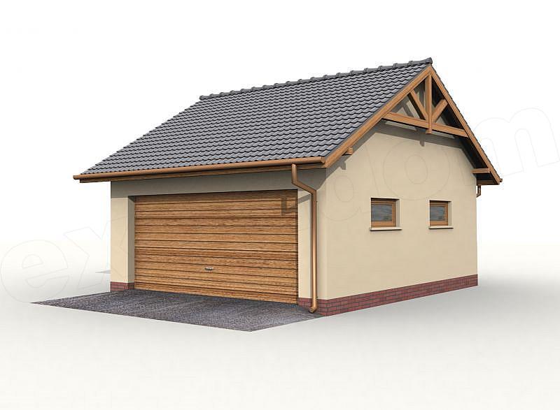 Projekt Garażu G30 Garaż Dwustanowiskowy 377 M2 Koszt Budowy