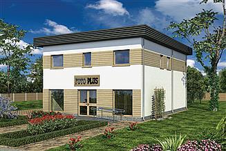 Projekt sklepu Murator UC51a Budynek mieszkalno-usługowy