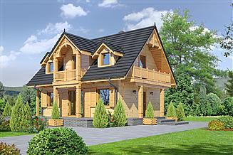 Projekt domu Gaik sudecki dw