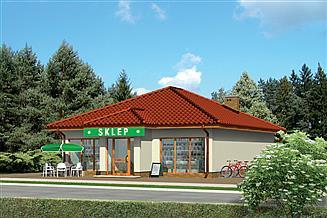 Projekt sklepu Murator UC05c Budynek usługowy