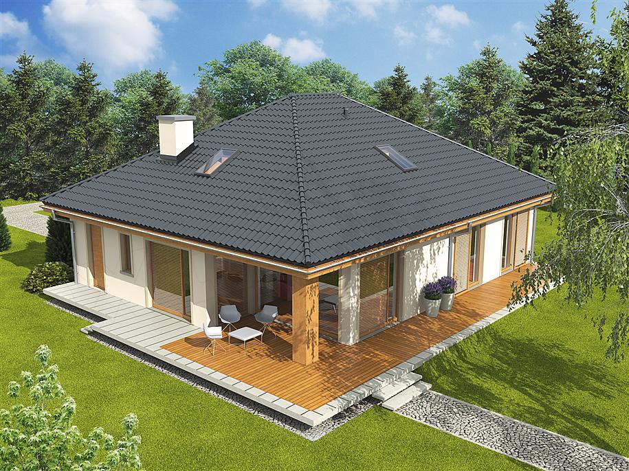 Projekt Domu Andrea Bianco 111 89 M2 Koszt Budowy Extradom