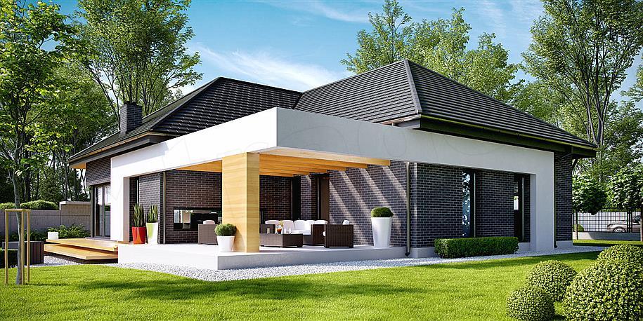 projekt domu, extradom, dom homekoncept-27, dom parterowy, nowoczesny dom parterowy