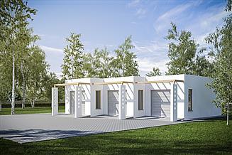 Projekt garażu G230 - Budynek garażowy