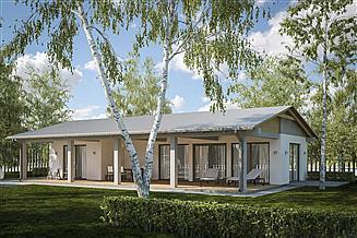 Projekt domu letniskowego G231 - Budynek letniskowy