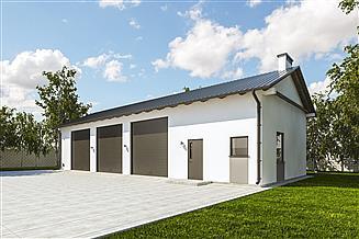 Projekt garażu G234 - Budynek garażowo - gospodarczy