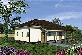 Projekt toalety publicznej Murator UC55 Budynek sanitarny, sezonowy