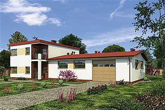 Projekt magazynu Murator UC43a Budynek usługowy z częścią mieszkalną