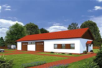 Projekt magazynu Murator GMC21b Budynek garażowo-magazynowy z pom. pomocniczymi