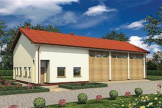 Projekt magazynu Murator GMC53 Budynek garażowo-magazynowy z pom. pomocniczymi