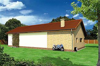 Projekt magazynu Murator GMC28b Budynek garażowo-magazynowy z częścią biurową