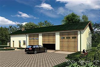 Projekt magazynu Murator GMC50 Budynek garażowo-magazynowy z pom. pomocniczymi