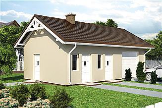 Projekt budynku gospodarczego G49D