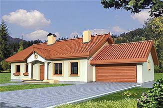 Projekt domu Sielanka A 100 2-garaże