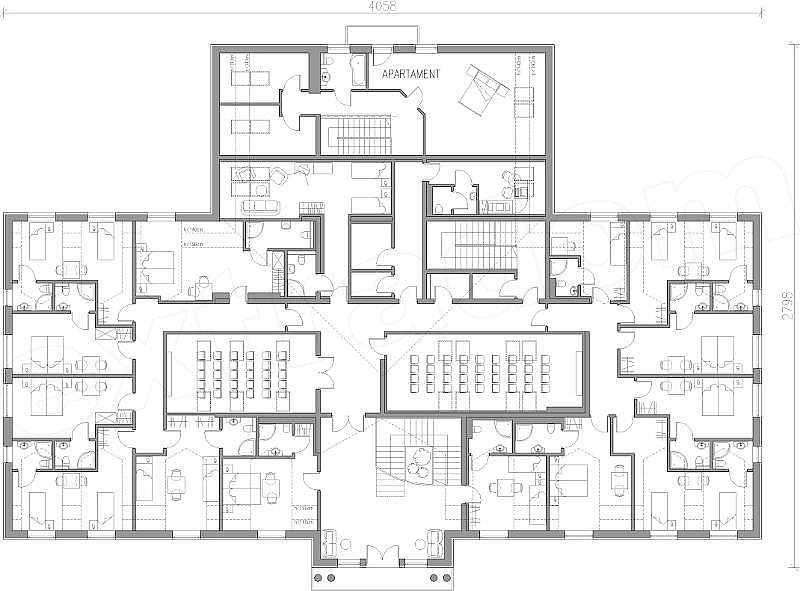 Projekt Domu Weselnego Restauracja Z Hotelem 1460 M2 Koszt Budowy