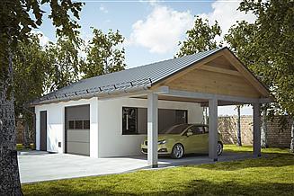 Projekt garażu G239 - Budynek garażowo - gospodarczy