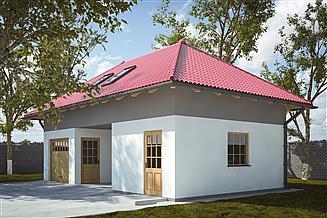 Projekt garażu G240 - Budynek garażowo - gospodarczy