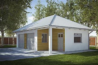 Projekt garażu G242 - Budynek garażowo-gospodarczy