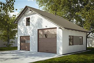 Projekt garażu G243 - Budynek garażowy