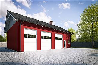 Projekt garażu G247 - Budynek garażowo - gospodarczy