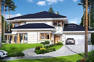 dom jednorodzinny z garażem – projekt domu Dom z widokiem 3
