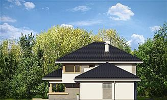 Elewacja lewa projektu Dom z widokiem 3