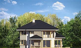 Elewacja prawa projektu Dom z widokiem 3