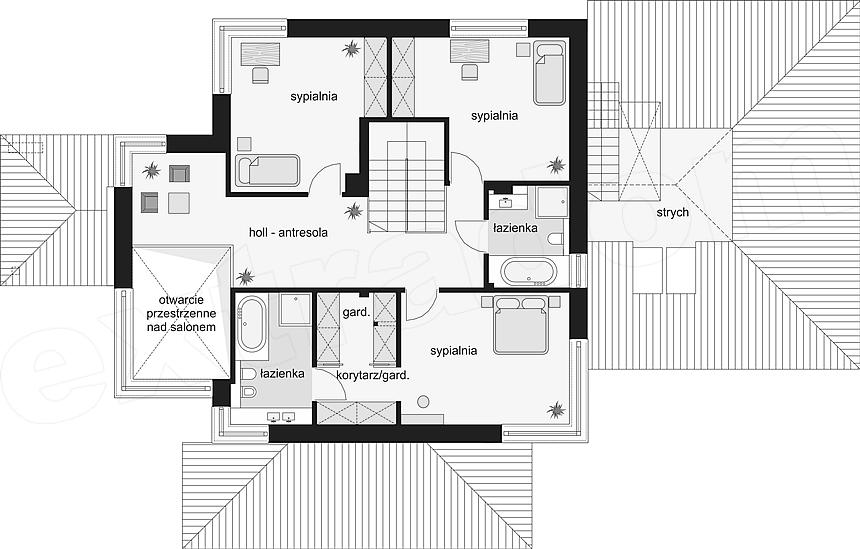 Rzut piętra projektu Dom z widokiem 3