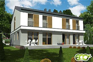 Projekt domu Nina trend z garażem 1-st. bliźniak [A-BL1]