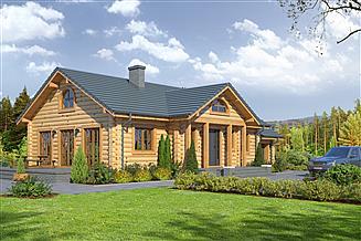 Projekt domu Chmielów 3 dw z garażem