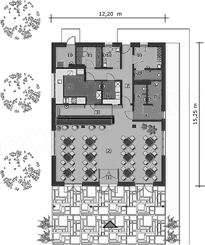 Projekt Restauracji Mala Gastronomia U56 156 19 M2 Koszt Budowy
