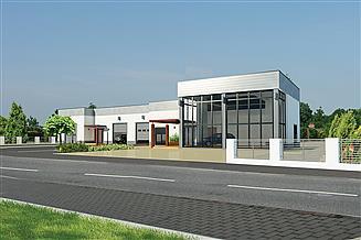 Projekt warsztatu Murator UC57 Budynek usługowy