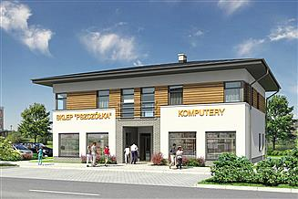 Projekt sklepu Murator U15e Budynek usługowy