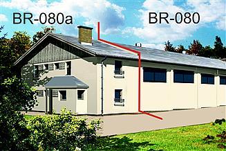 Projekt budynku biurowego BR-080a