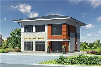 Projekt sklepu Murator U15f Budynek usługowy
