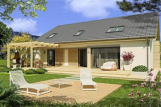 Projekt domu Tytus D 2-garaże