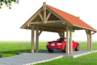 Projekt wiaty garażowej Wiata 1A